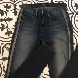 J brand Kacie Wicked leather trimmed Jeans